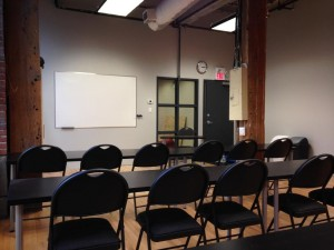 First aid and CPR training classroom in Down town Vancouver