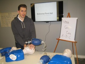 First aid and CPR HCP class in Kelowna