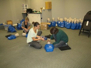 First aid and CPR training class