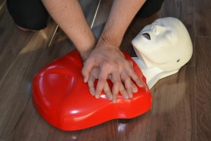 first aid and CPR training mannequin